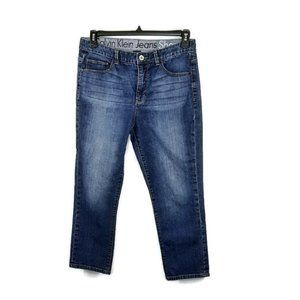 Calvin Klein Jeans Shape Cropped Jeans Size 12